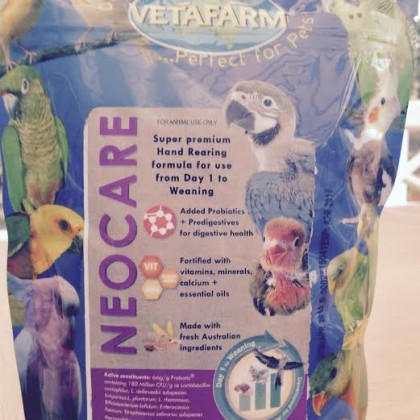HAND REARING FORMULA NEOCARE  By VETAFARM 450g
